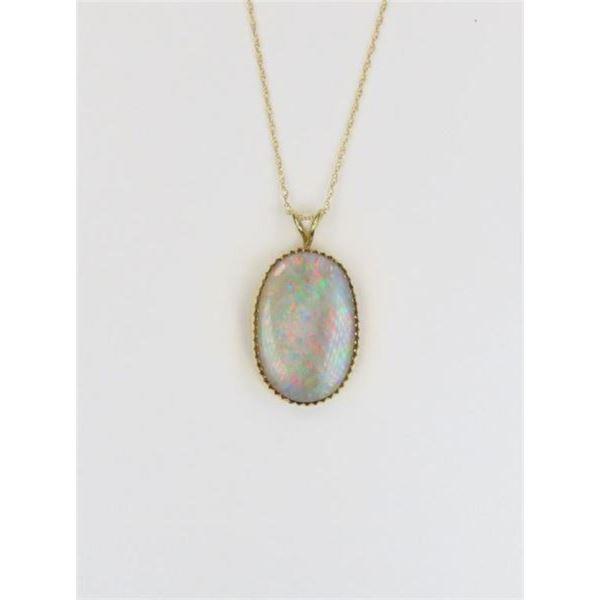 Luminous Australian Opal Pendant
