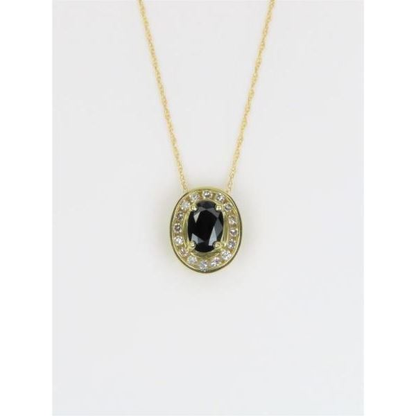 Alluring Blue Sapphire and Diamond Pendant