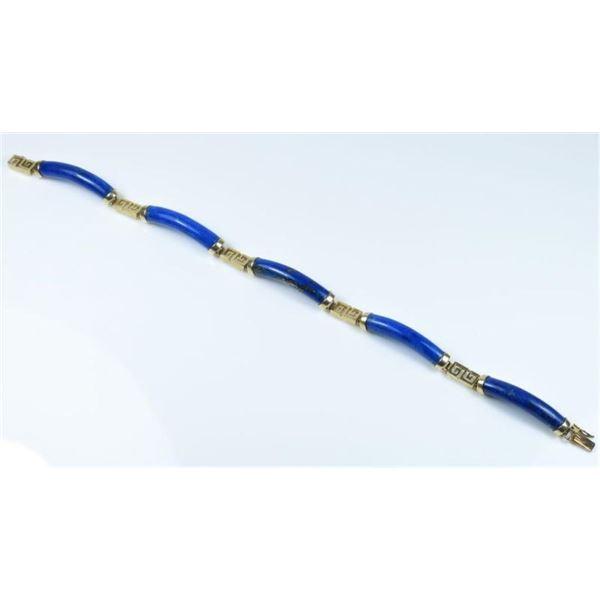Rich Blue Lapis Lazuli Bracelet