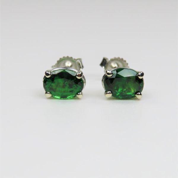 Fine Vivid Green Tsavorite Garnet Earrings