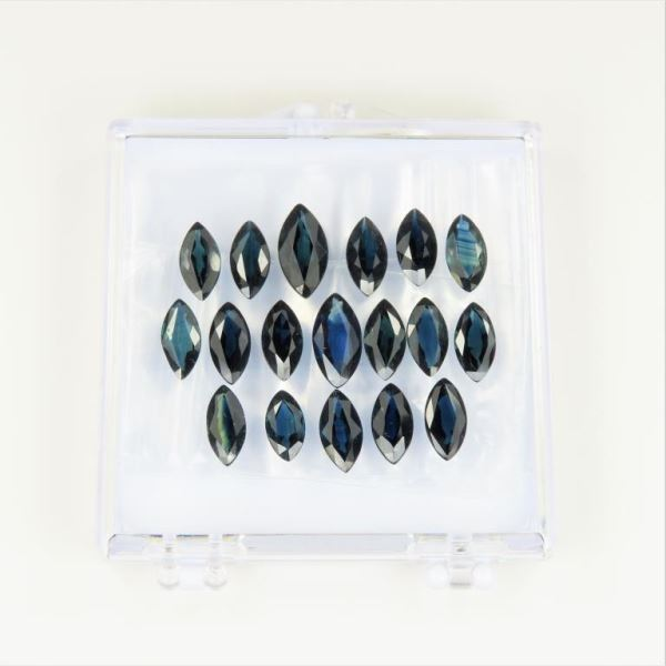 18 Loose Marquise cut Blue Sapphires