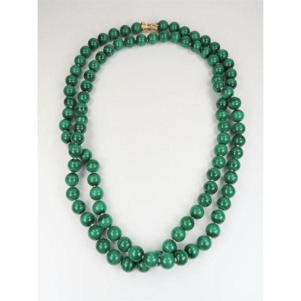 Alluring Fine Malachite Beaded Necklace