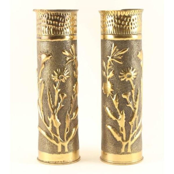 Pair of French 75mm Shell Cases