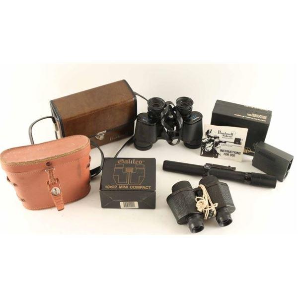 Optics Lot w/ Binoculars, Scope, Bore Sighter