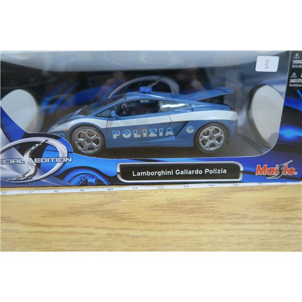 """1:18 Scale Lamborghini Gallardo  """"Poliza"""" MIB"""