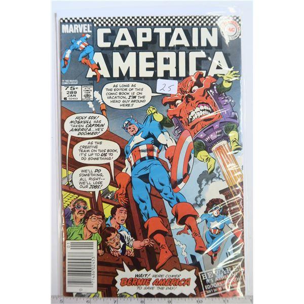 Captain America #289 Jan 1983 Comic Book