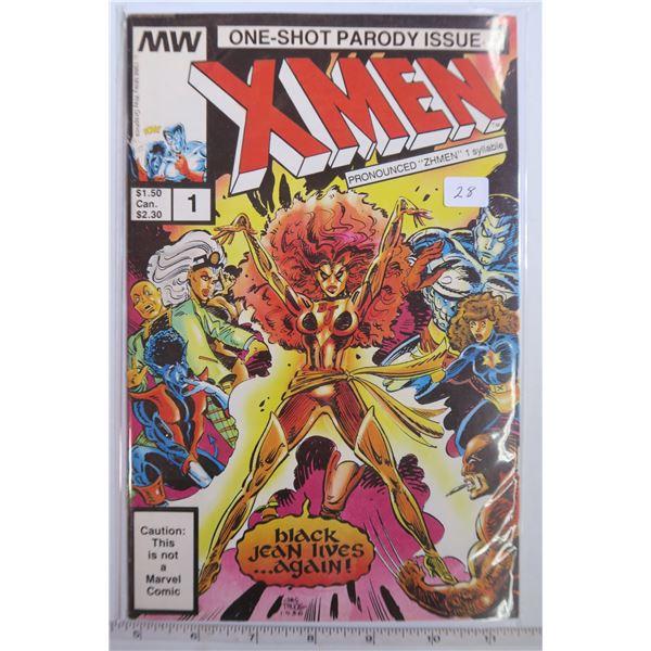 One Shot Parody X-Men Comic #1 1986