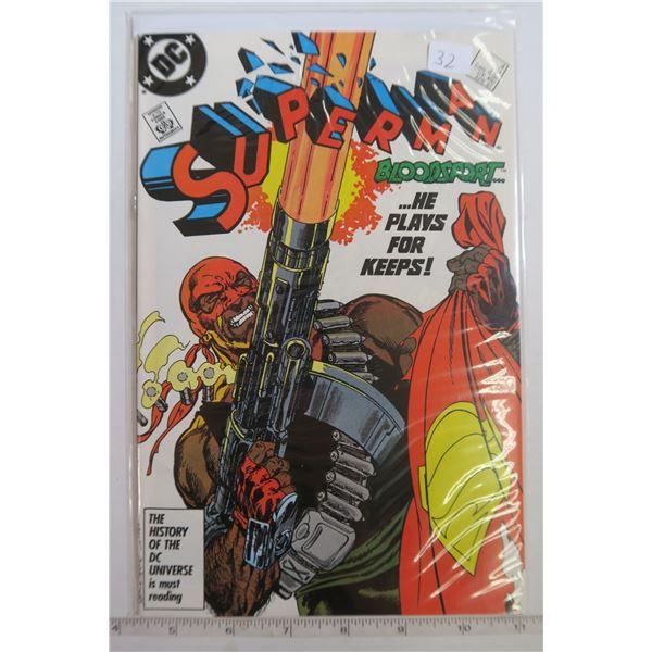 "Superman #4 Apr 1987 Byrne & Austin ""Bloodsport"""