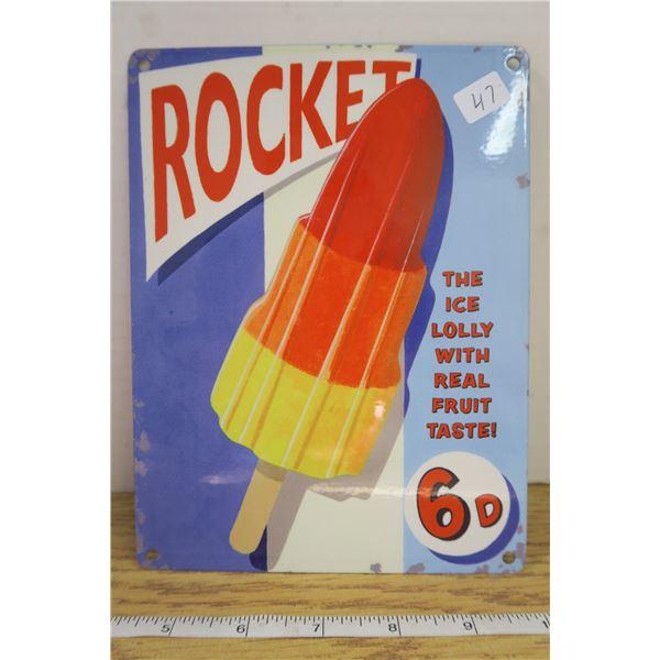 """Heavy Metal Rocket Sign 6"""" X 8"""""""