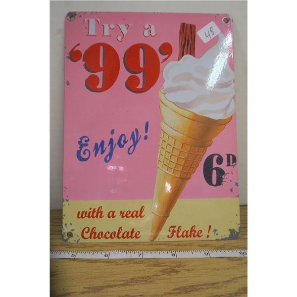 "Heavy Metal 99 Cone Sign 6"" X 8"""