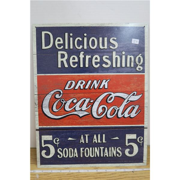 """Coca Cola Metal Sign 12.5"""" X 16"""""""