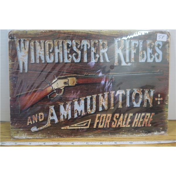 """""""Winchester""""  Tin Sign 7 3/4"""" X 11 1/2 """""""