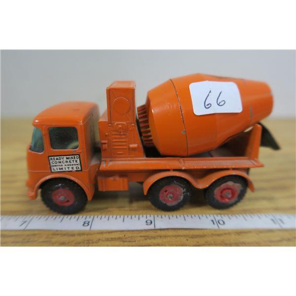 Matchbox Orange Cement Truck Lesney