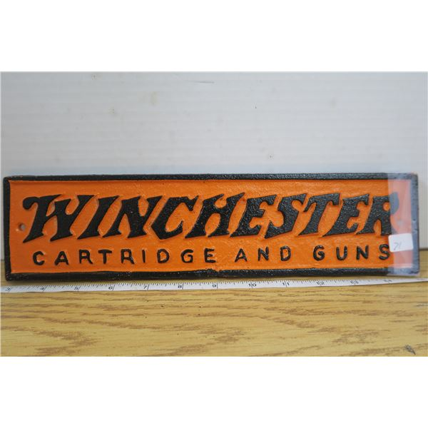 3 X 12 Iron Winchester Plate Sign
