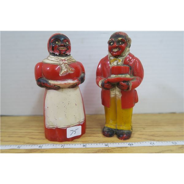 Folklore Collection Figurine Salt & Pepper Shakers Aunt Jemima & Uncle Moses