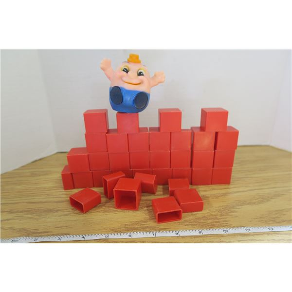 Very Old Humpty Dumpty Toy With Blocks