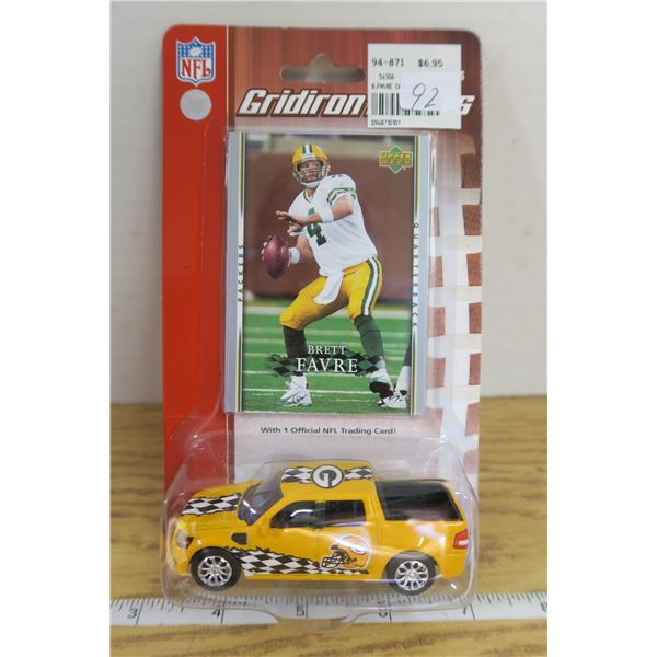 "Gridiron Diecast Truck and Card ""Brett Favre"""