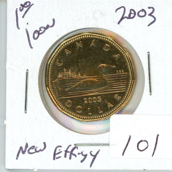 2003 Canadian $1.00 New Effigy