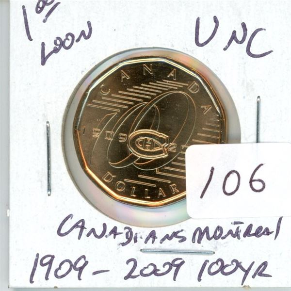 1909-2009 100 year Montreal Canadiens unc.