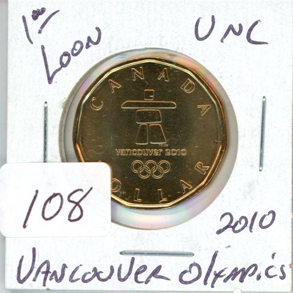 2010 Canadian $1.00 Vancouver unc