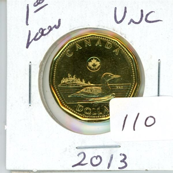 2013 Canadian $1.00 unc loonie