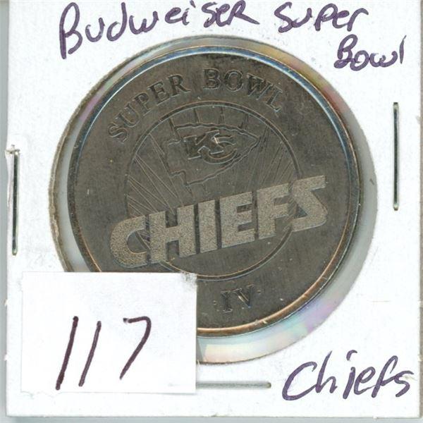 NFL Budweiser token Superbowl Chiefs