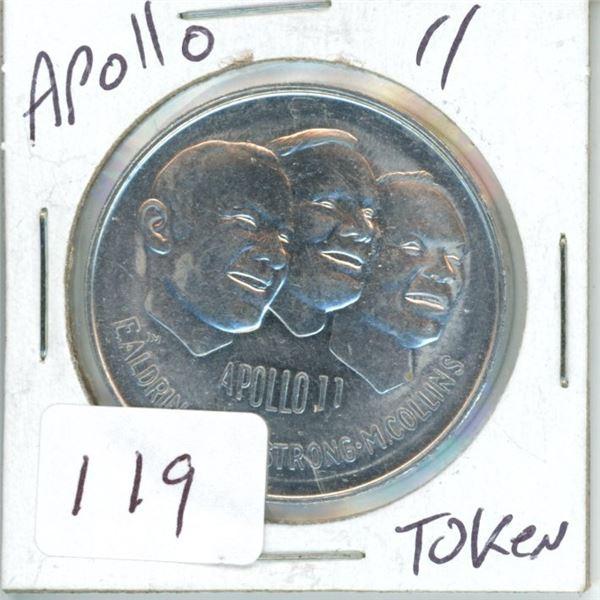 Apollo 11 token 1969