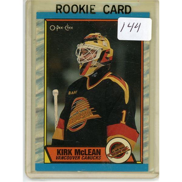 Gradable rookie card - Kirk McLean #61
