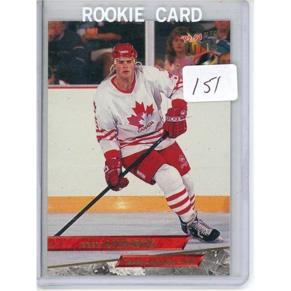 Gradable rookie card -  Brett Lindros #466