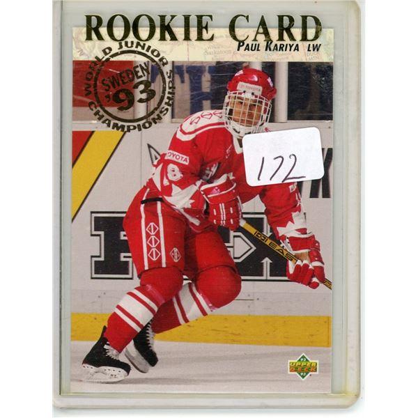 Gradable rookie card - Paul Karia #586