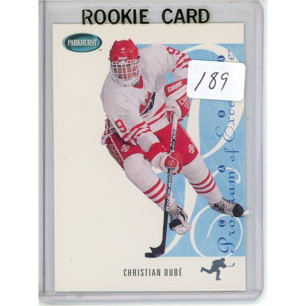 Gradable rookie card - Christian Dube #SE258