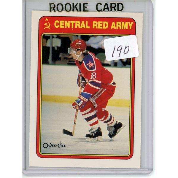 Gradable rookie card - Sergei Fedorov 19R