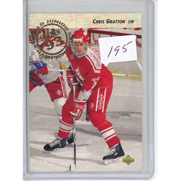 Gradable rookie card - Chris Gratton #590