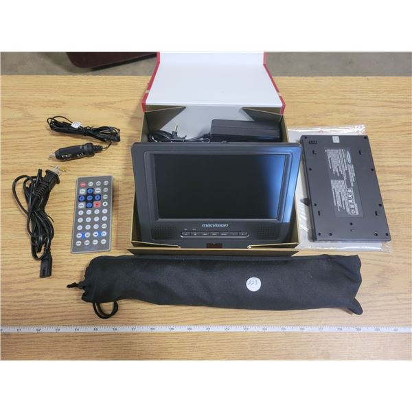 Macvision Mobile DVD Player with rechargable battery - works great - complete with vehicle mounting