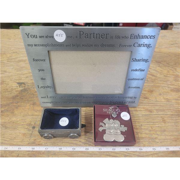1st born pewter , jewel box & inspiring metal 6 x 4 inch frame