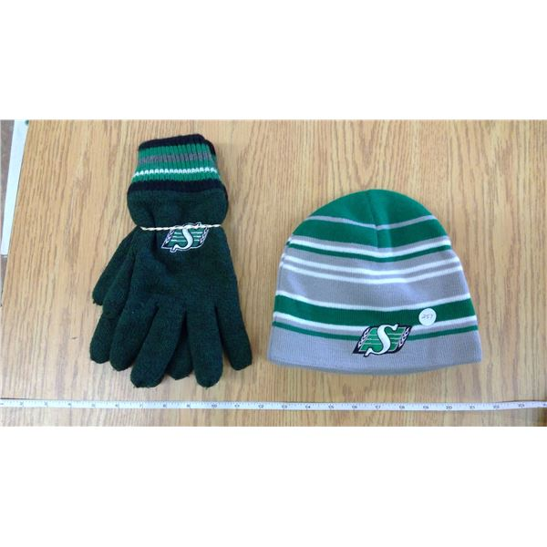 Sask Rider Wool Glove and Toque Set (Gift-Never Used_