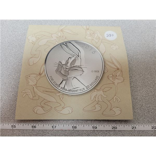 2015 - $20.00 for $20.00 - Bugs Bunny - 7.96g pure silver