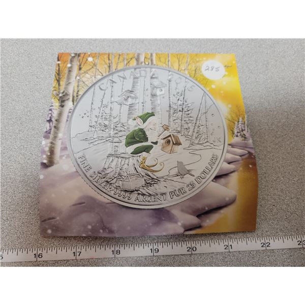 2016- $25.00 for $25.00 - Colorized Elf - 7.96 pure silver