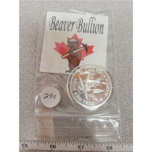Limited Beaver Bullion - 1 oz Silver - True North High & Free