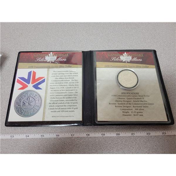 1978 - Commonweath Games Silver Dollar - 1st Commemorative Mint