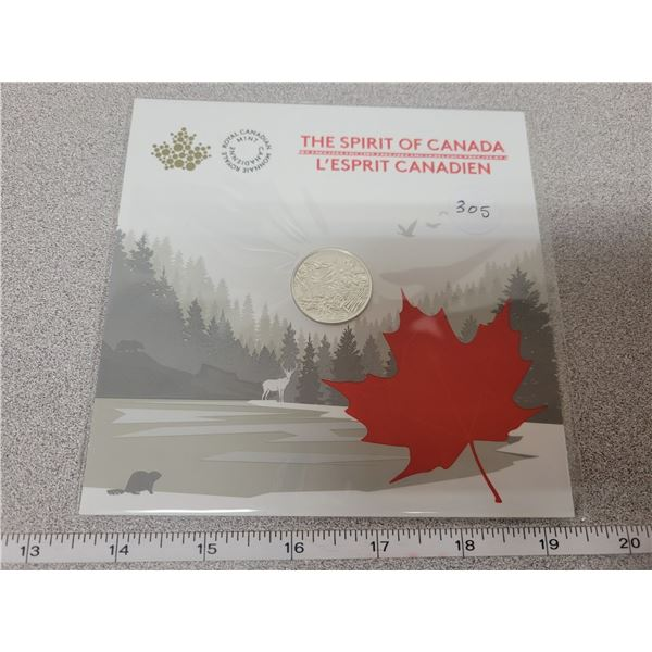 2017 - $3.00 - Pure Silver Gift Coin - The Spirit of Canada (Sealed)