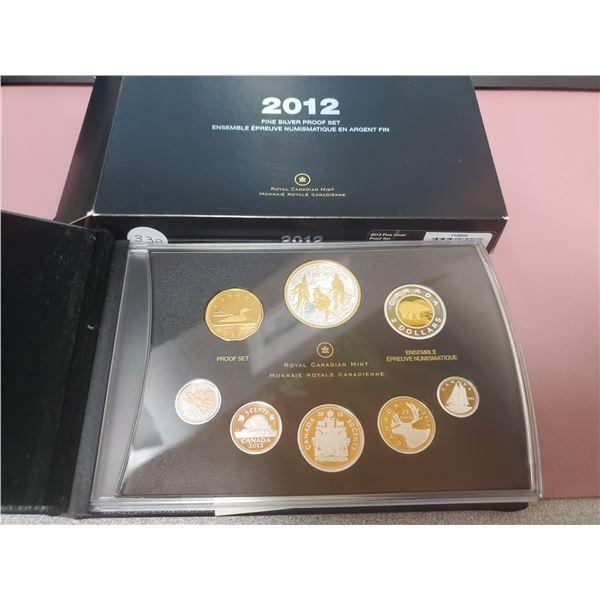 2012 Large Case - Fine Silver Proof Set