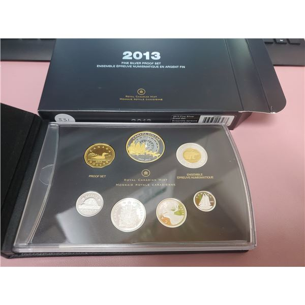 2013 Large Case - Fine Silver Proof Set