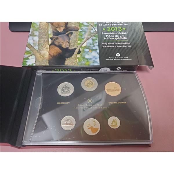 2013 Large Case Special Edition $2.00  Black Bear Specimen Set