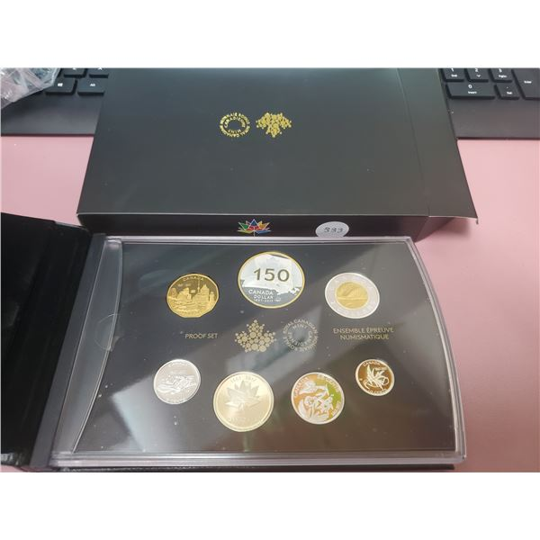 HIGHLY PRIZED - 2017 Large Case  Special Edition Fine Silver Proof Set (Canada 150)
