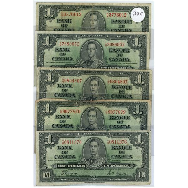 5 - 1937 Notes - NM3776012,RN0894897,TN0811376,TN7688952,,UN9077879