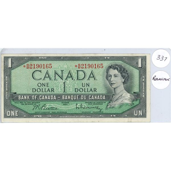 1954 - $1.00 Replacement Note - BM2190165