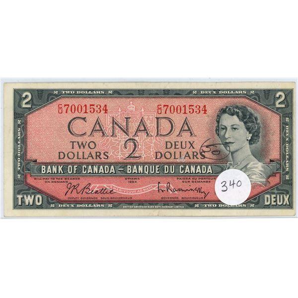 1954 - $2.00 Note - Beattie/Rasminski - CU7001534