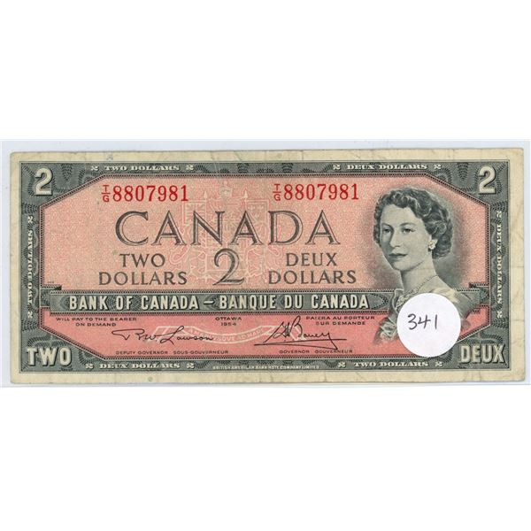 1954 - $2.00 Note - Lawson/Bouey - TG8807981