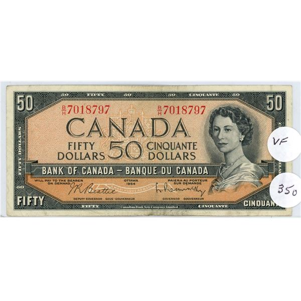 1954 - $50.00 Note - #BH7018797 - F